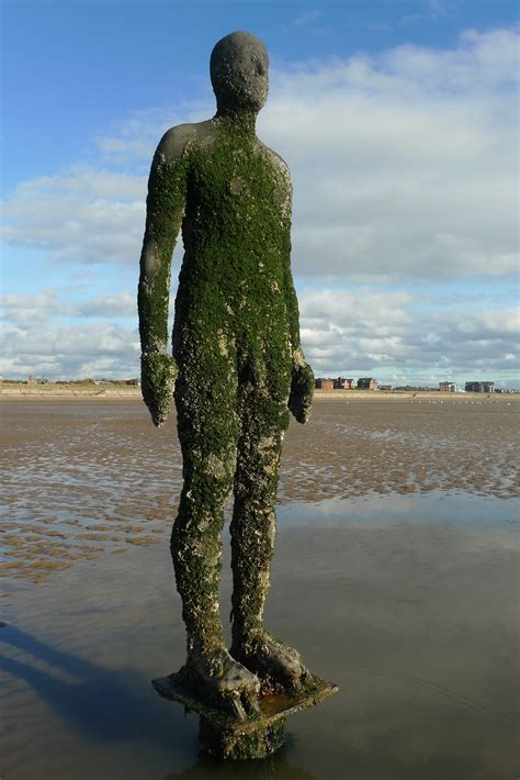 antony gormleys sculptures at crosby visitengland antony gormley s another place tammy tour guide