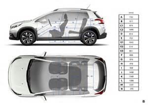 Dimensions Of Peugeot 2008 Peugeot 2008 Dimensions Ext 233 Rieures Et Int 233 Rieures