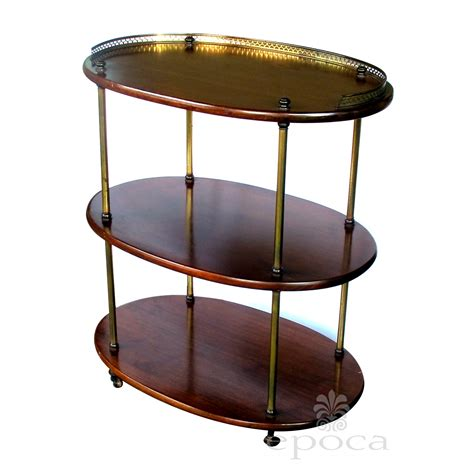 etagere oval a handsome 3 tier solid mahogany oval etagere with