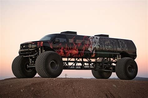 monster truck video sin city hustler is a 1m ford excursion monster truck