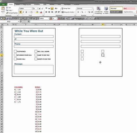 create a form template create a form in excel 2010