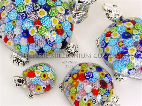 ladari di murano in offerta bomboniera tartaruga vetro murano murrina argento silver