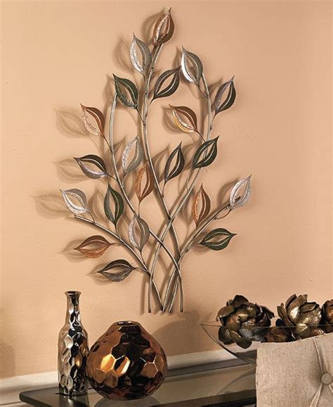 gold silver metal leaves wall sculpture leaf