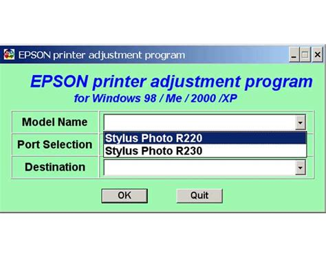 download resetter r230 adjustment adjustment program epson sx 230 resetter epson sx 230