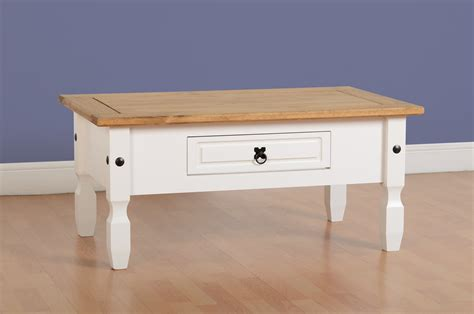 ebay wooden coffee table new fusion contemporary white pine solid 1 drawer wooden
