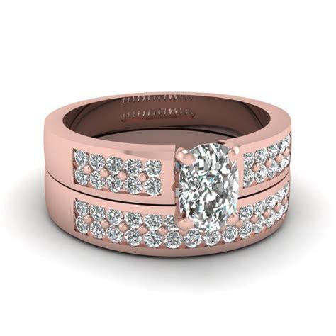 Handmade Diamonds - 1 25 cushion pave two row handmade wedding ring