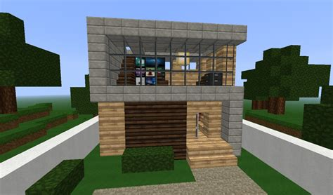 easy house in minecraft simple modern house minecraft project
