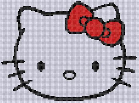 hello kitty cross stitch hello kitty cross stitch pattern by bracefacepatterns