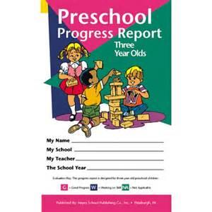 preschool progress report template preschool progress report 3 year olds report cards a