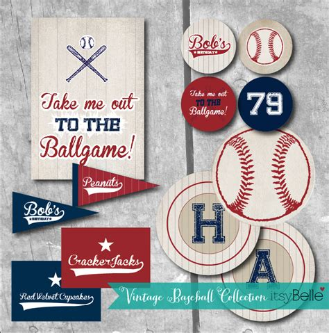 printable baseball party decorations guest party vintage baseball 79th birthday bash