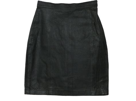 retro 80 s mini skirt 80s wilsons suede and leather