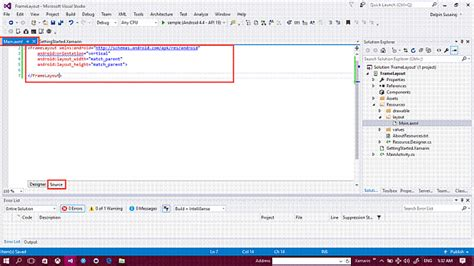 xamarin frame layout create a frame layout in xamarin android app using visual
