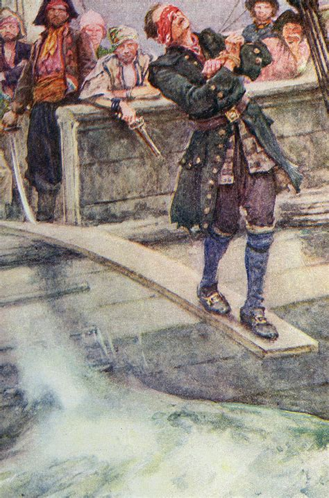 Walking The Plank by Walking The Plank Painting By Walter Stanley Paget