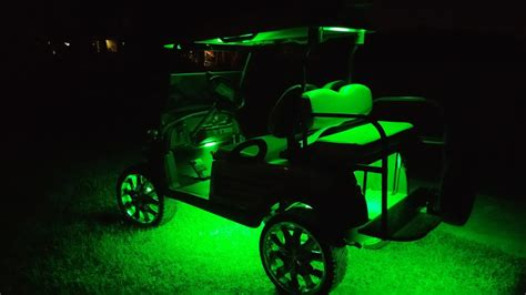 golf cart stage 2 kit fusion 21 color led lighting kit