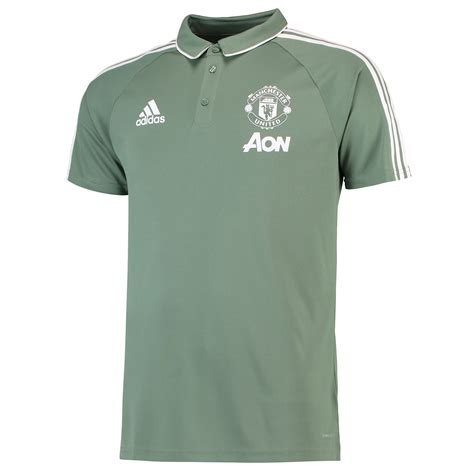 Polo Shirt Manchester United 036 manchester united polo shirt green mens adidas ebay