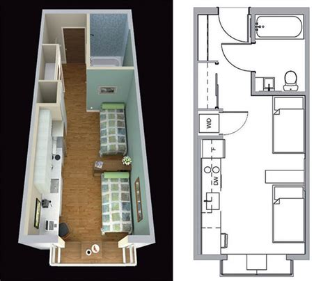 micro studio plan home sweet shoebox archpaper com