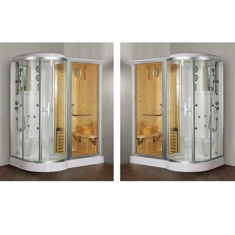 cabina doccia con sauna e bagno turco box doccia idromassaggio 168x95cm con sauna e cromoterapia vi