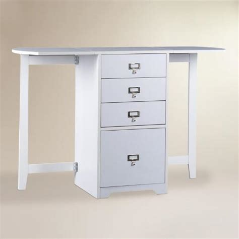 white craft desk white folding craft desk world market