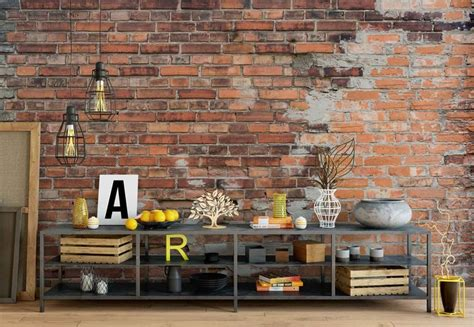 grunge brick wall wall paper mural buy  europosters