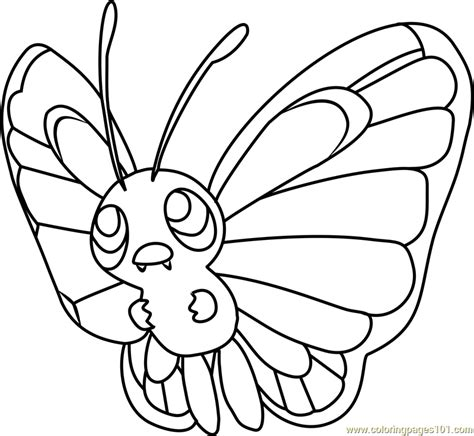 pokemon coloring pages butterfree butterfree pokemon coloring page free pok 233 mon coloring