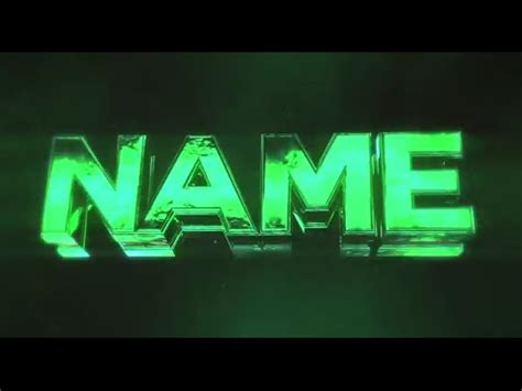 free 3d intro 63 glossy green sync 3d intro template