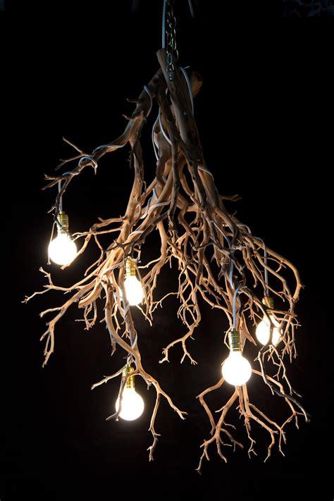 Halloween Wood Tree Branch Chandelier Id Lights Wooden Tree With Lights