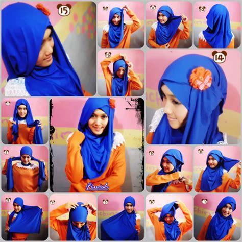 Monochrom Segi Empat Dan Pasmina cara memakai jilbab modern simple miulan boutique