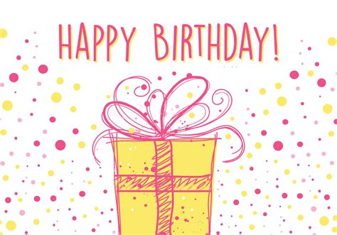 birthday pattern pink vector birthday card design download free vector art stock