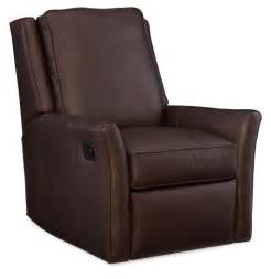 barnes leather wall hugger recliner by bradington