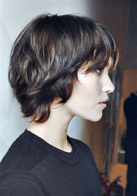 hairstyles with bangs longer than back long pixie hair pinterest