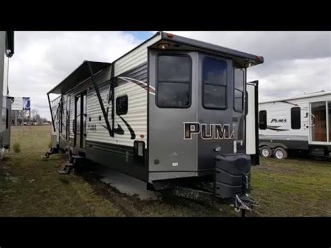 2017 puma 39bht 2 bedroom park model trailer c out rv