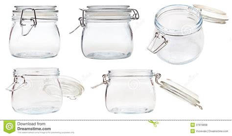 swing top bale jars set of small swingtop bale glass jar on white royalty free