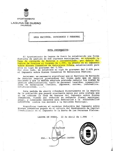 carta formal sobre los baches 210 familias de laguna han pedido ya la derogaci 243 n de la retasa de basura en el municipio la
