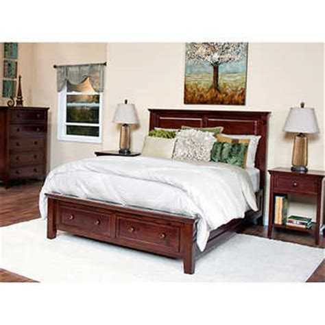 king bedroom set with storage verona 4 piece king storage bedroom set