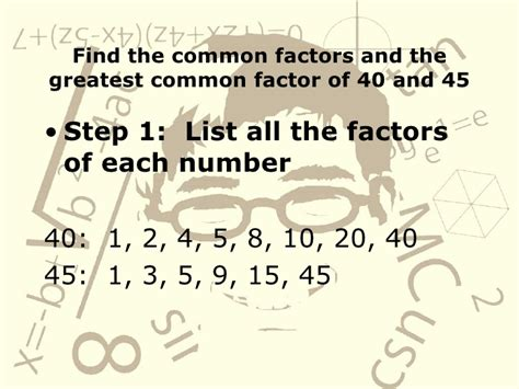finding prime factors of n and their multiplicities common factors 100 images finding the common factors