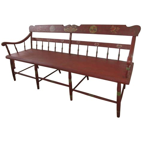 deacons bench furniture late 19th century pennsylvania deacons bench or settle at