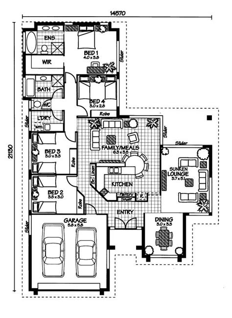 australian home plans floor plans the bedarra 171 australian house plans