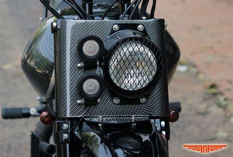 Bike Headlight Modification In Delhi by Shadow Classic 500 Transformed To A 535 Bore
