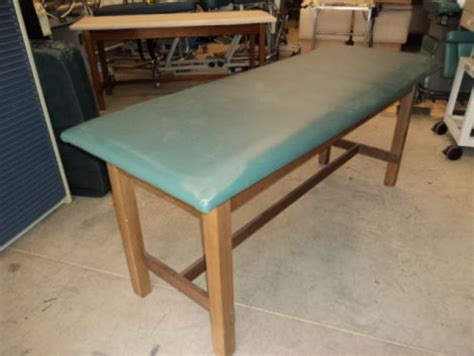 physical therapy table used used wood frame physical therapy table for sale dotmed