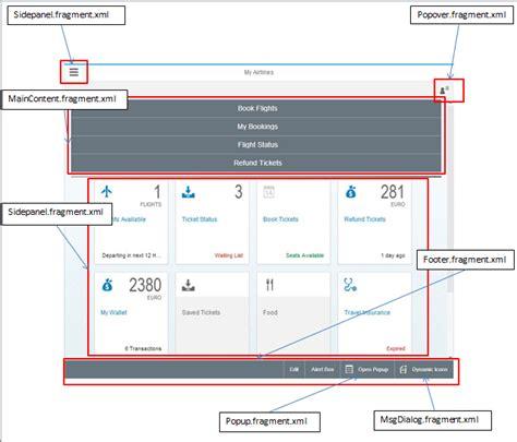 layout ui5 creating a fiori ui5 application using fragments sap blogs