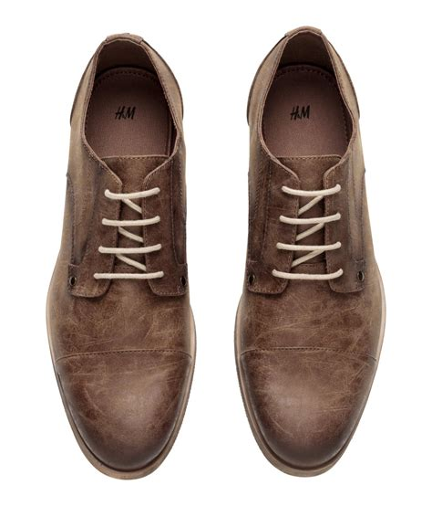 m and s shoes lyst h m derby shoes in brown for