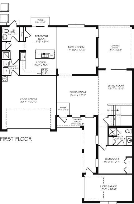 side load garage house plans laurel new home plan in treviso bay classic homes