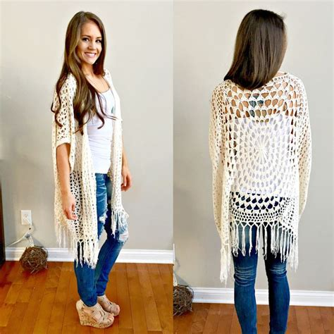 Kardigan Motif Bunga Fringe layla crochet fringe cardigan crochet patterns to try cardigans fringes and