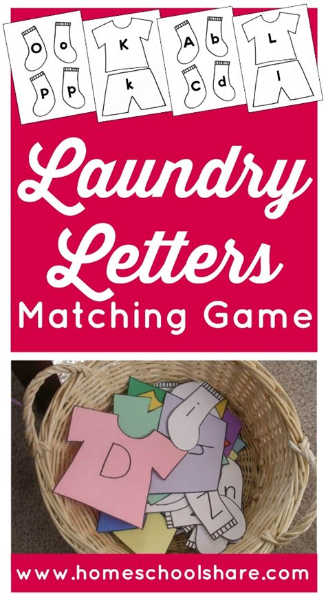 Laundry Letters by Laundry Letters Matching Homeschool