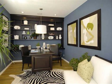 Home Office Colors | house decorating ideas blue brown home office color