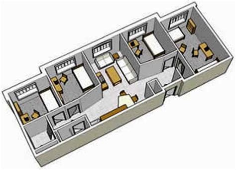 Typical Floor Plans Of Apartments Hausdoerffer Amp Phelps Hall Residential Education And Housing