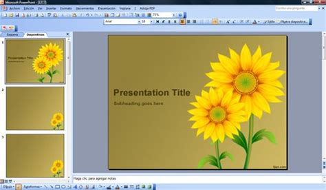 orange sunflower powerpoint free sunflowers powerpoint