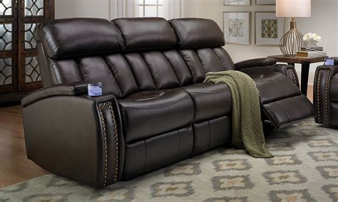 full reclining home theater sectional sofa set console haynes furniture conroy power usb reclining sofa