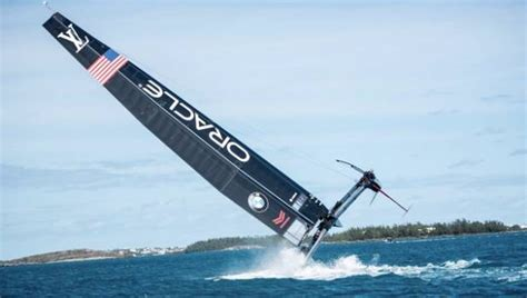 bermuda catamaran accident jimmy spithill at helm as oracle crash test boat in