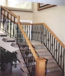 Wood Railings For Stairs Interior Gallery Railings Interior Stair